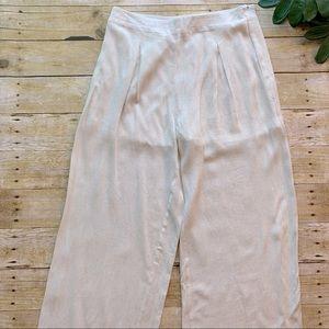 NWT Charlotte Russe Cream Linen Wide Leg Pants